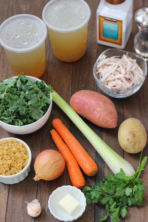 Turkey, Kale and Sweet Potato Soup-1-17