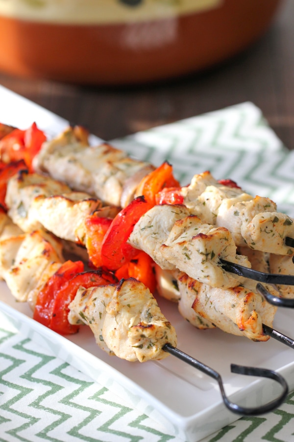 Broiled Chicken and Vegetable Kebabs-1-18