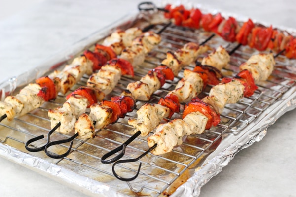 Broiled Chicken and Vegetable Kebabs-1-21