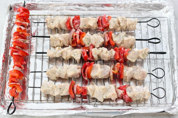 Broiled Chicken and Vegetable Kebabs-1-23
