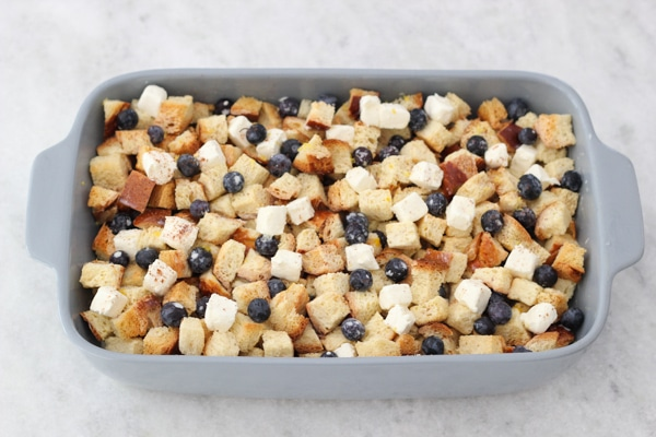 Blueberry, Cream Cheese and Almond French Toast Casserole-1-19