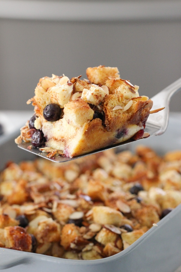 Blueberry, Cream Cheese and Almond French Toast Casserole-1-23