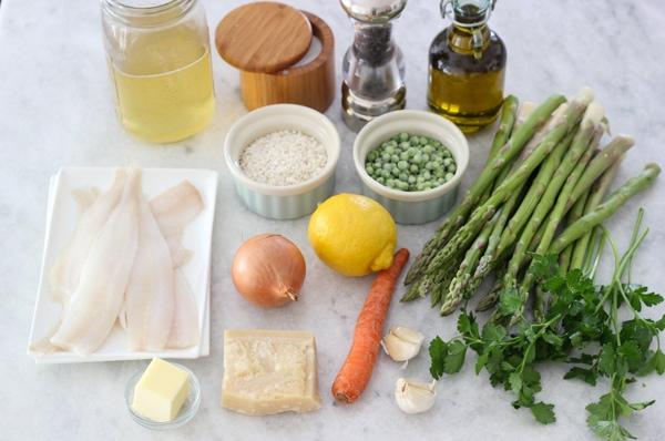 Creamy Rice, Flounder and Asparagus-1-17