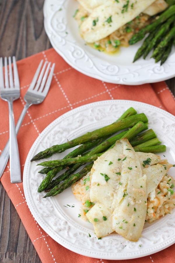 Creamy Rice, Flounder and Asparagus-1-31