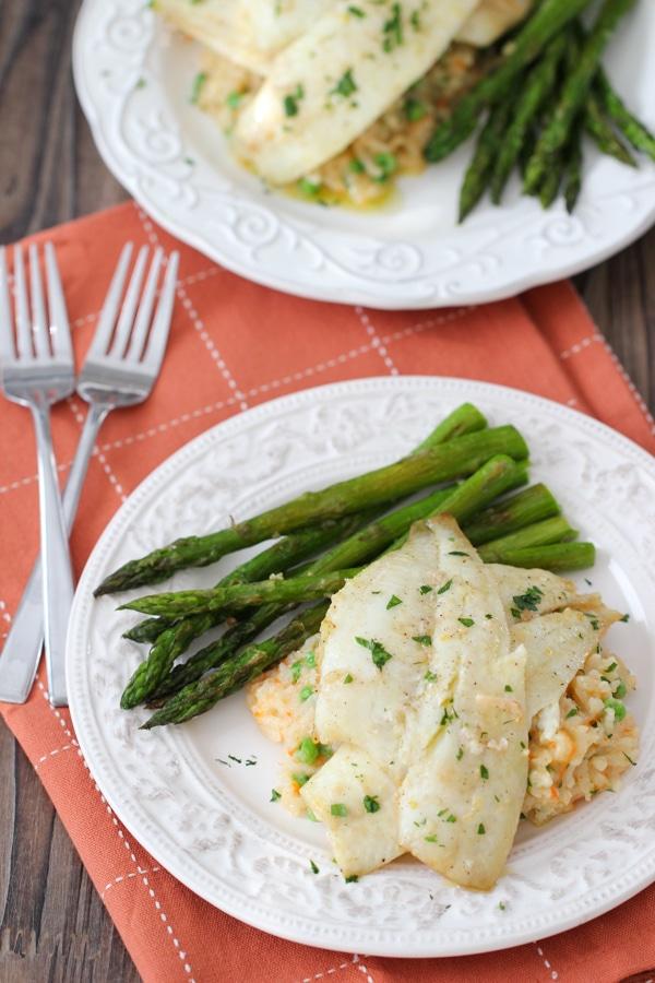 Creamy Rice, Flounder and Asparagus-1-32