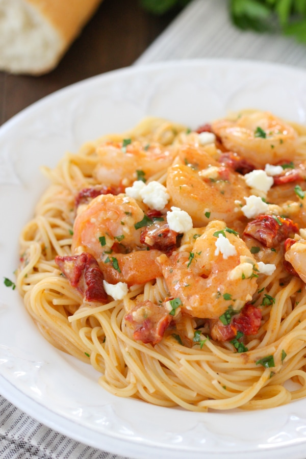 Saucy Shrimp With Sun Dried Tomatoes and Feta-1-23