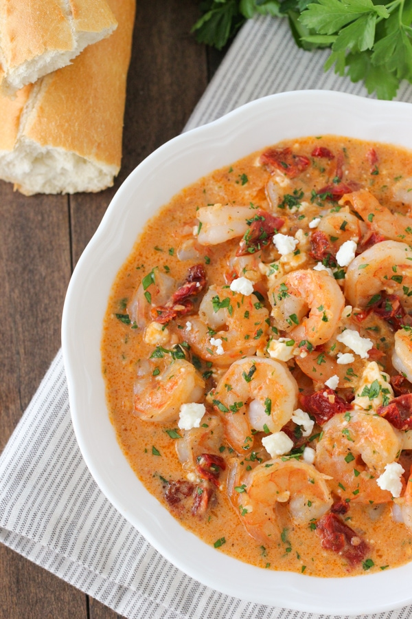 Saucy Shrimp With Sun Dried Tomatoes and Feta-1-24