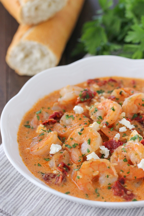 Saucy Shrimp With Sun Dried Tomatoes and Feta-1-25