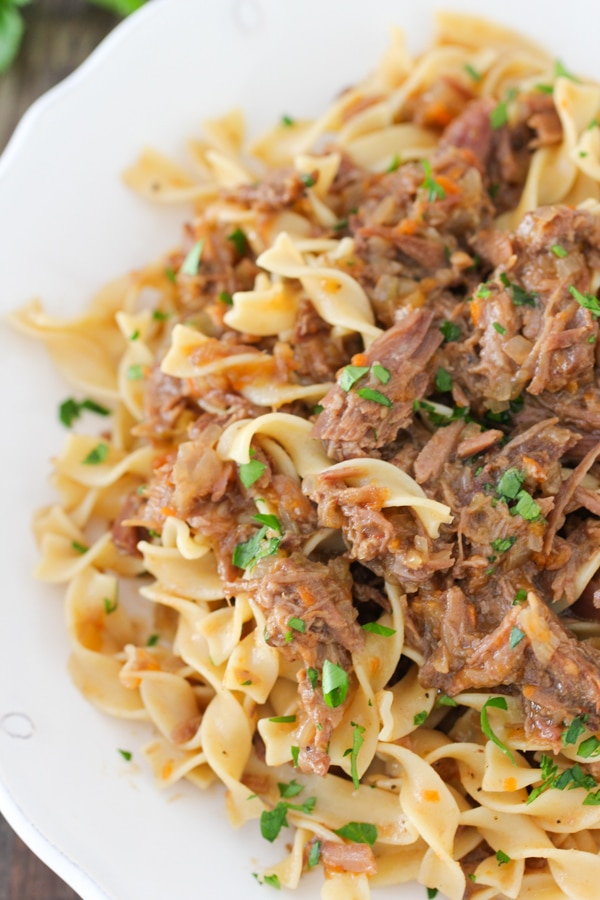 Slow Cooker Beef and Onion Ragu-1-16