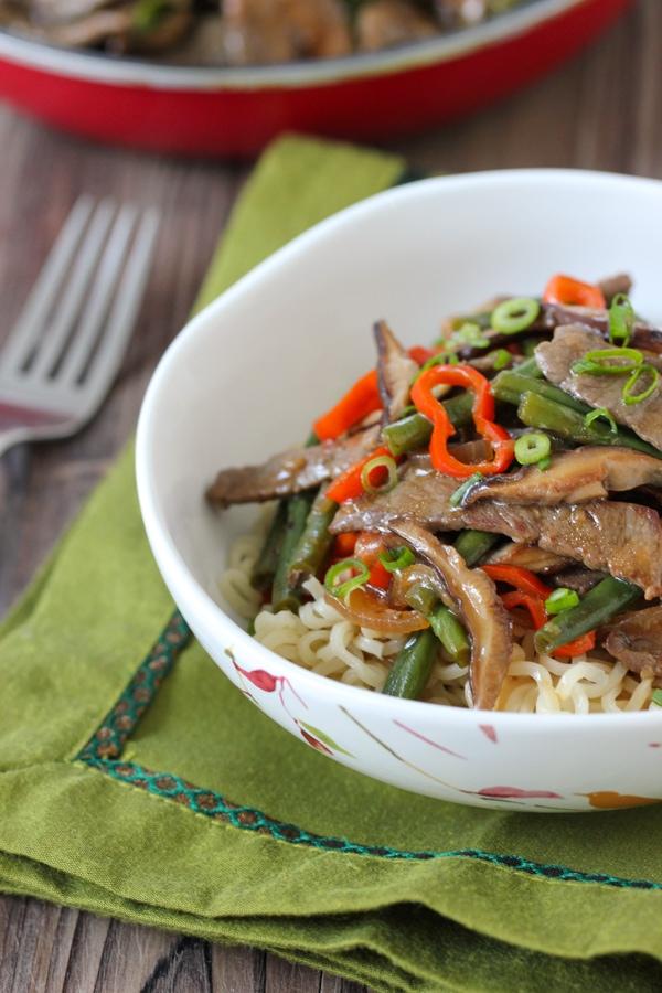Beef, Shitake and Green Bean Stir Fry-1-24