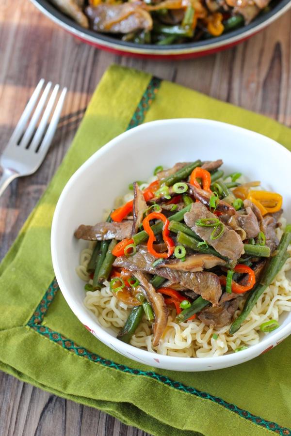Beef, Shitake and Green Bean Stir Fry-1-25