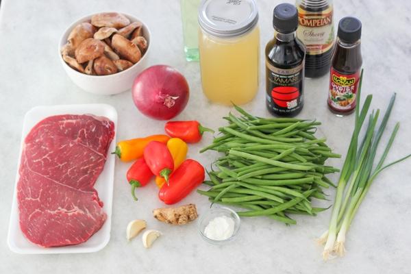 Beef, Shitake and Green Bean Stir Fry-1-26