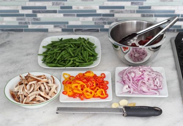 Beef, Shitake and Green Bean Stir Fry-1-30