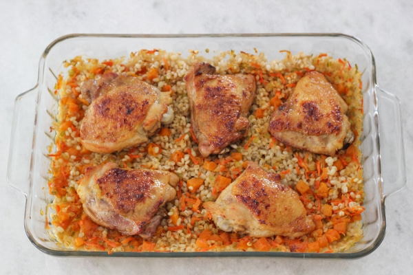 Glazed Chicken and Baked Barley-1-22