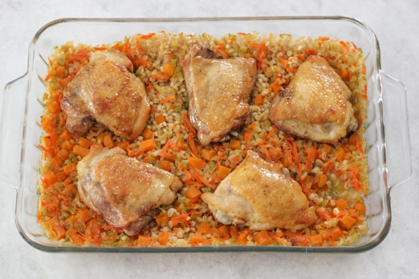 Glazed Chicken and Baked Barley-1-23