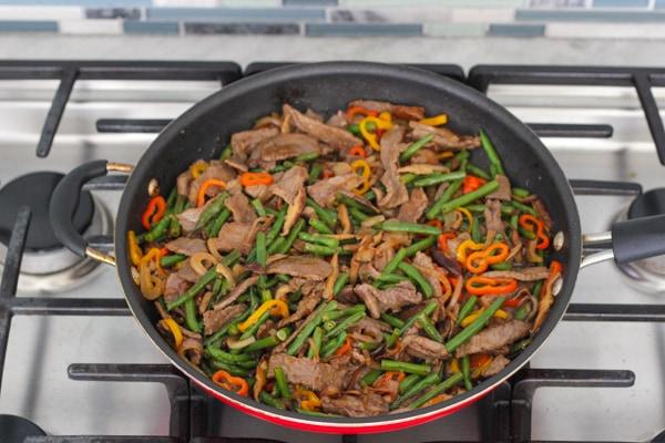 Beef, Shitake and Green Bean Stir Fry-1-44