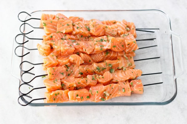 Grilled Lemon Garlic Salmon Kebabs-1-10