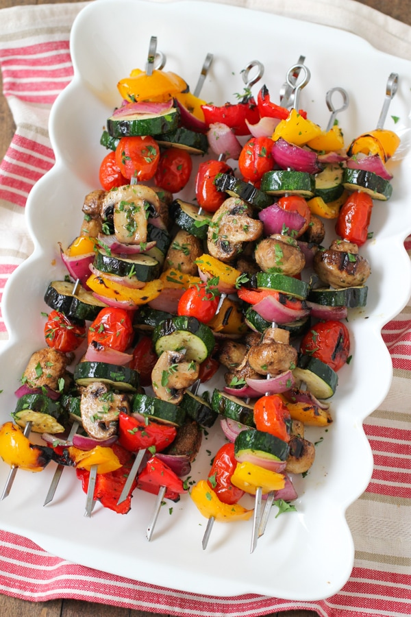 Grilled Vegetable and Mushroom Kebabs-1-14