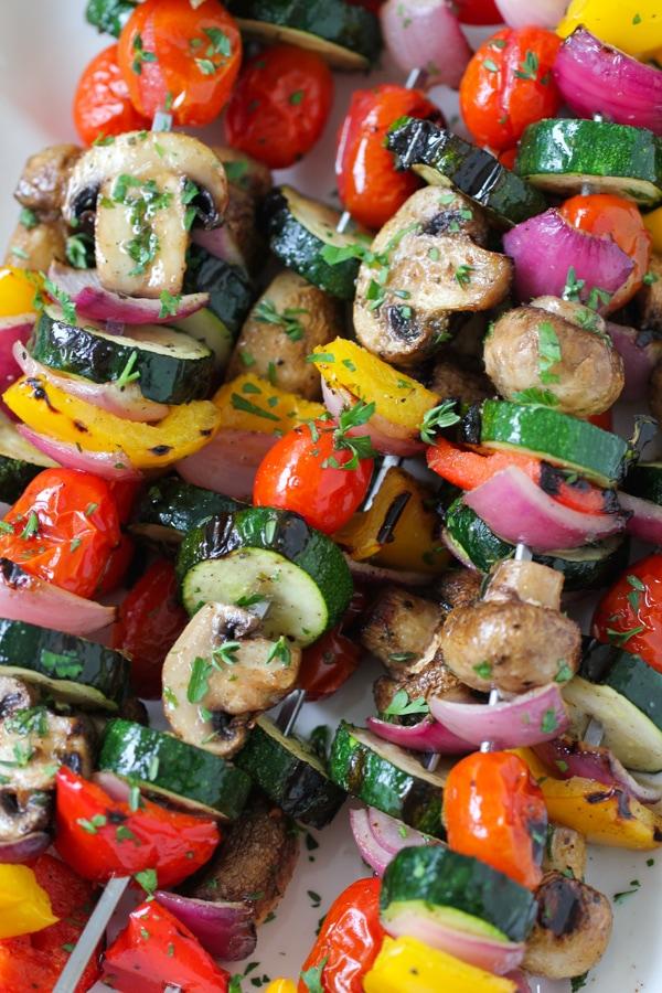Grilled Vegetable and Mushroom Kebabs-1-15