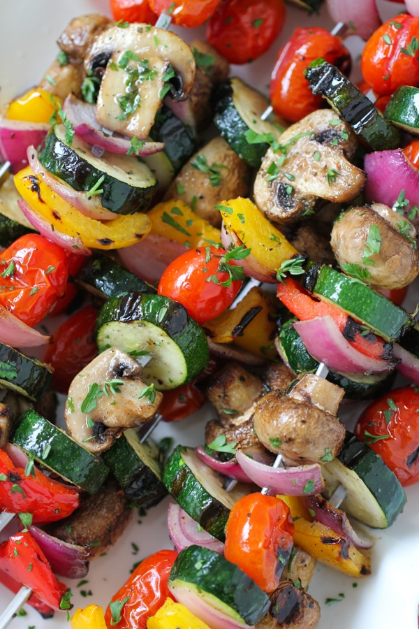 Grilled Vegetable and Mushroom Kebabs-1-16