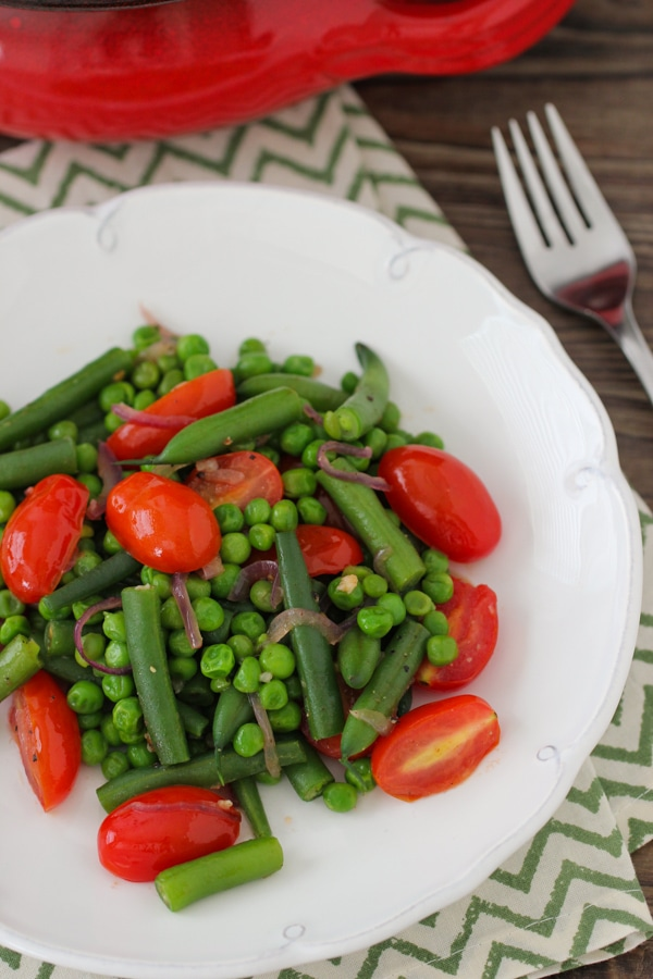 Sauteed Beans, Peas and Cherry Tomatoes-1-10