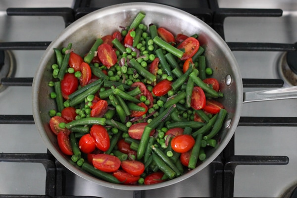 Sauteed Beans, Peas and Cherry Tomatoes-1-11