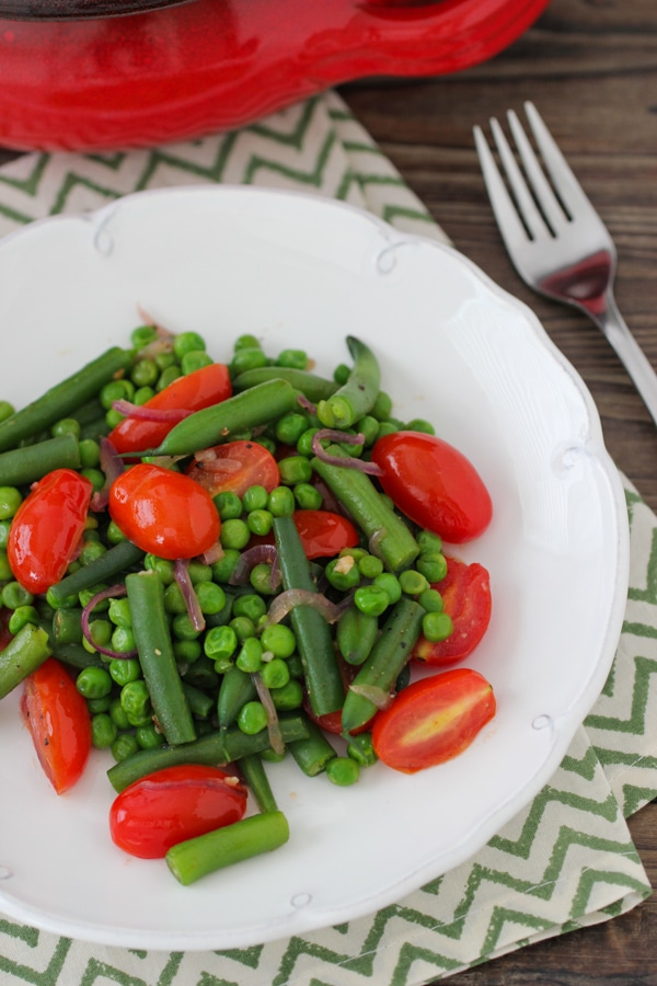 Sauteed Beans, Peas and Cherry Tomatoes-1-9