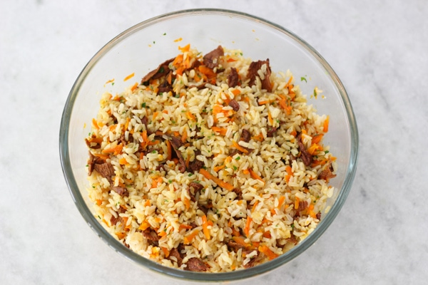 Carrot and Mushroom Brown Rice-10