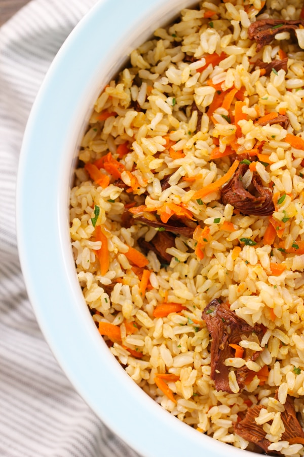 Carrot and Mushroom Brown Rice-11