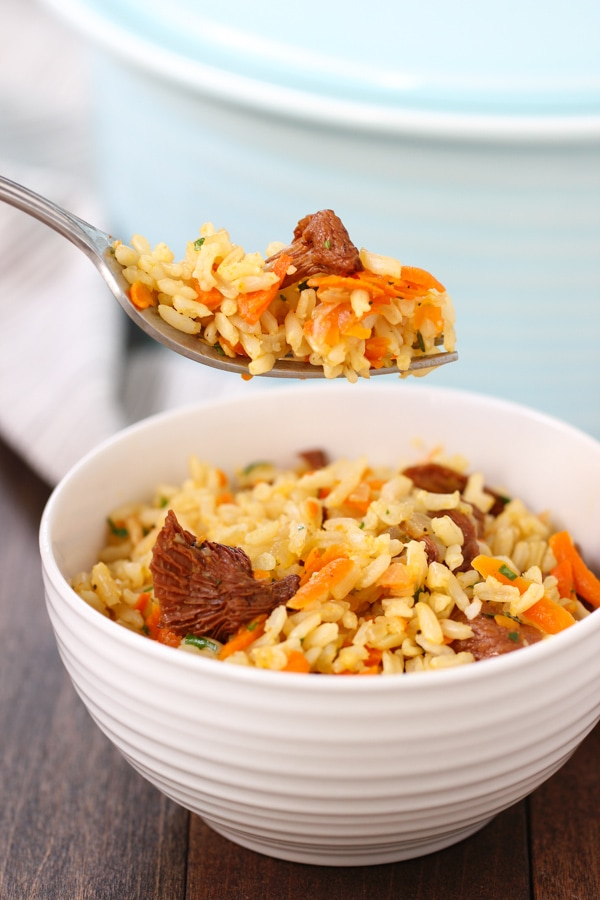 Carrot and Mushroom Brown Rice-13
