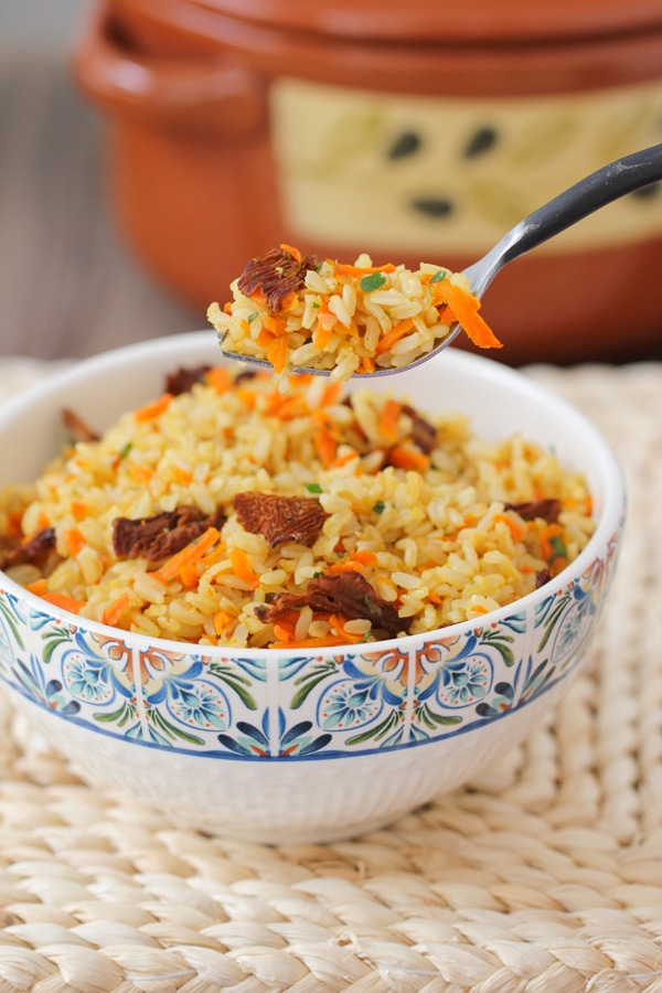 Carrot and Mushroom Brown Rice-15