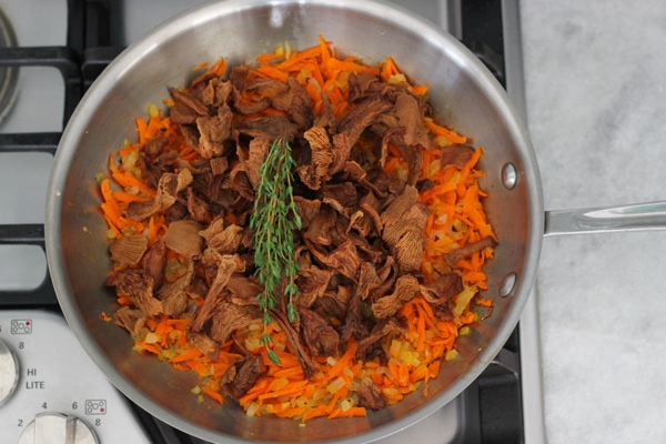Carrot and Mushroom Brown Rice-5