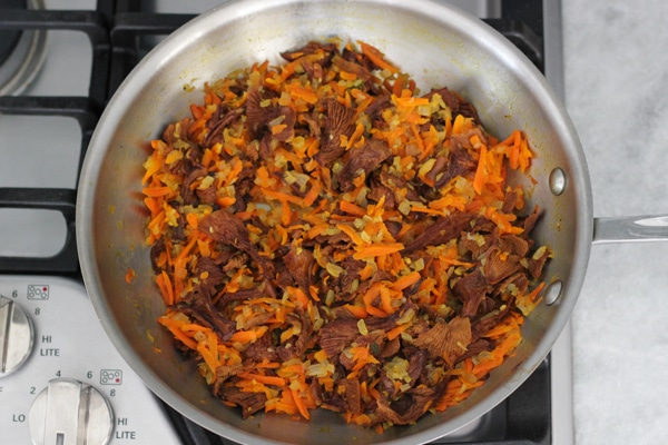 Carrot and Mushroom Brown Rice-7