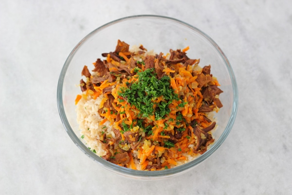 Carrot and Mushroom Brown Rice-9