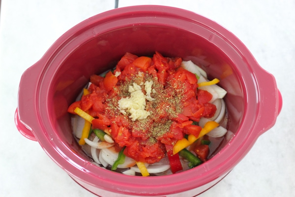 Slow Cooker Chicken and Peppers-5