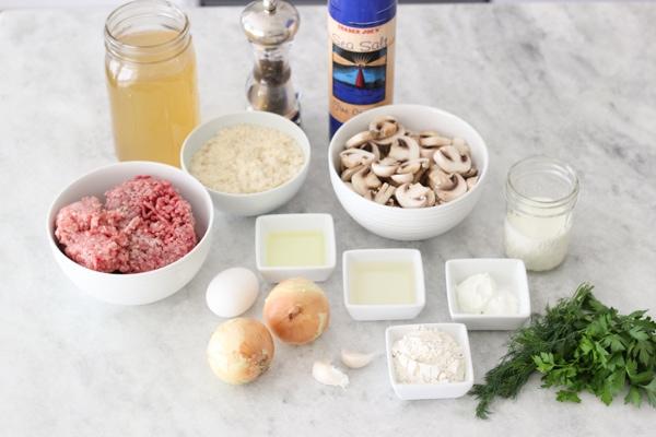 Stroganoff Meatballs - ingredients for the recipe