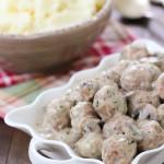 Stroganoff Meatballs - tender beef and pork meatballs cooked in a creamy mushroom sauce