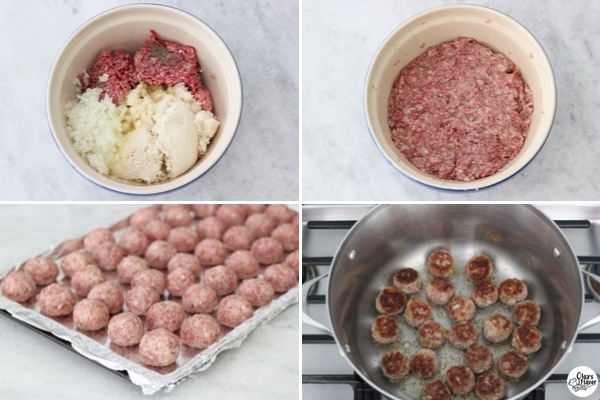 How to make homemade meatballs tutorial