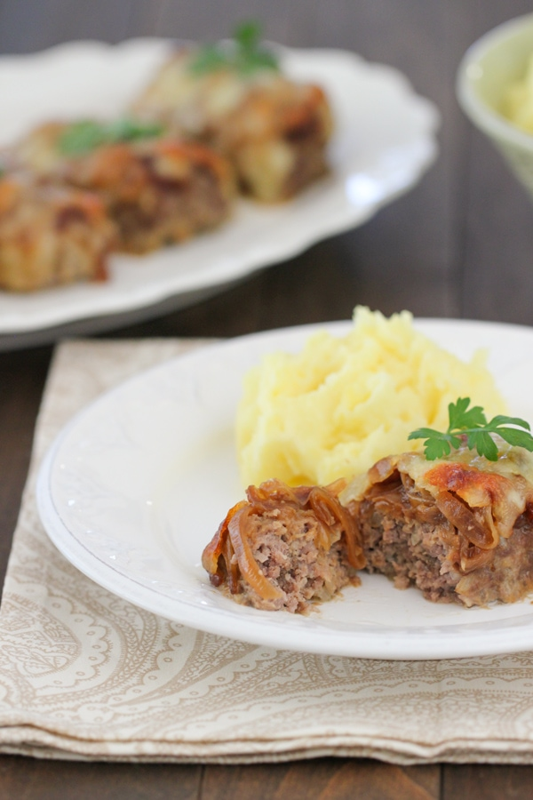 French Onion Mini Meatloaves 3-1-2