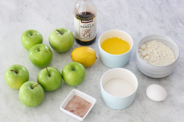 Ingredients for a Swiss Apple Pie