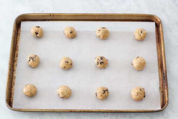 Peanut Butter and Oatmeal Chocolate Chip Cookies-13