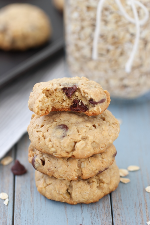 Peanut Butter and Oatmeal Chocolate Chip Cookies-19