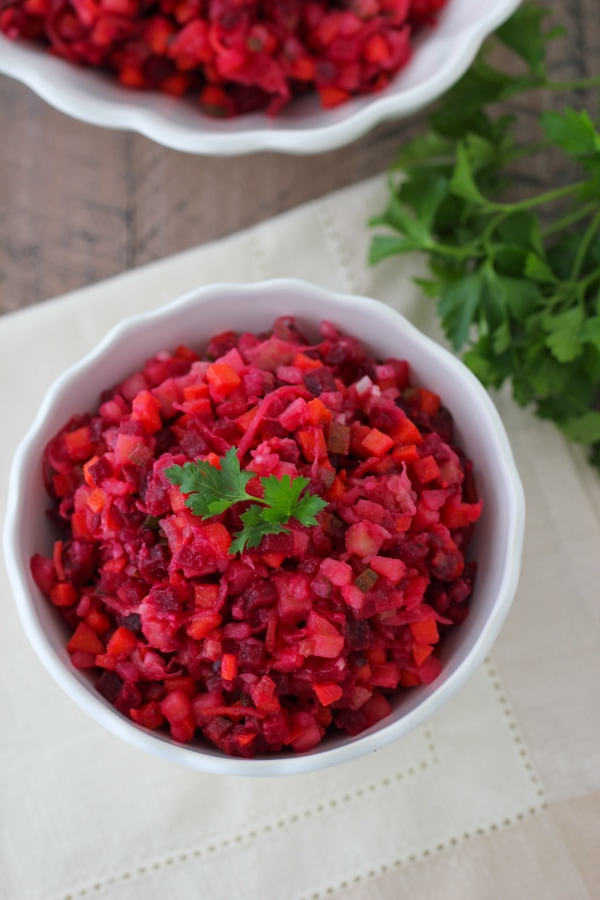 Russian Beet Salad Vinegret -9