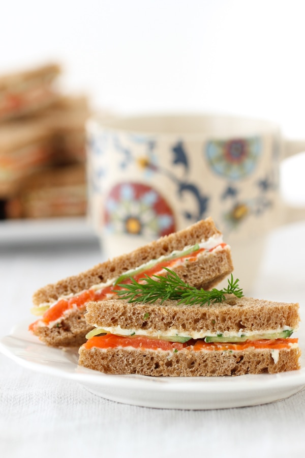 Salmon and Cucumber Tea Sandwiches-10