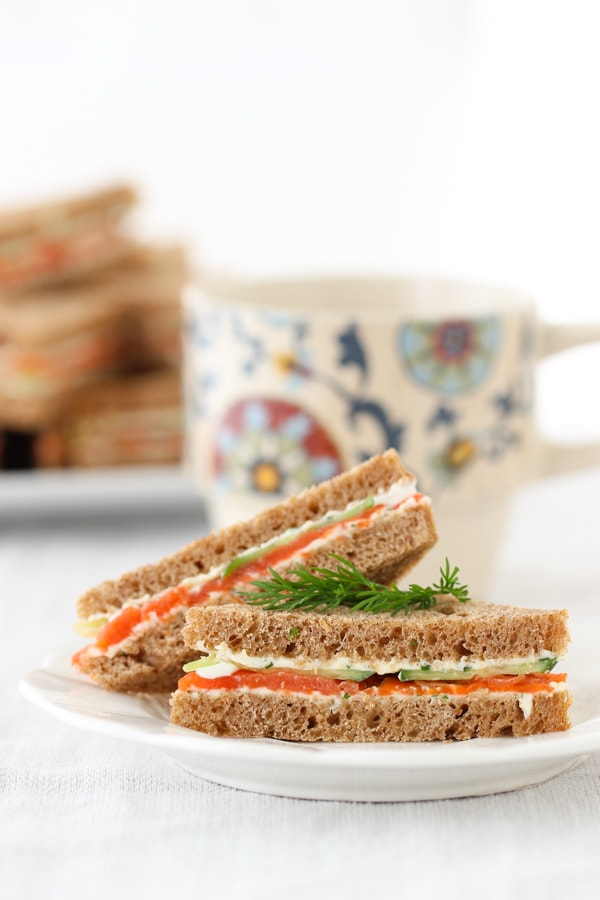 Salmon and Cucumber Tea Sandwiches-11