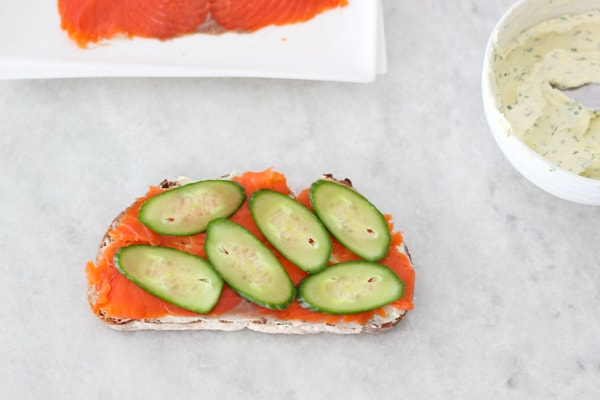 Salmon and Cucumber Tea Sandwiches-6