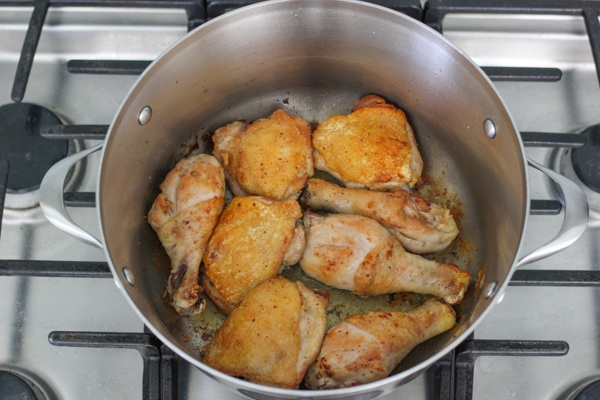 Braised Chicken With Creamy White Wine Sauce-2