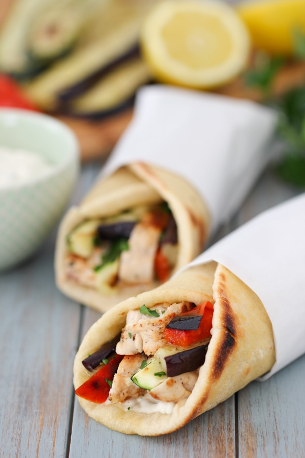 Mediterranean Chicken Pita Wraps-16