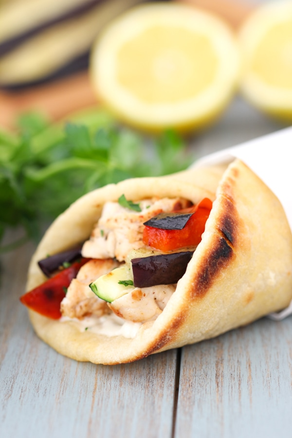 Mediterranean Chicken Pita Wraps-19