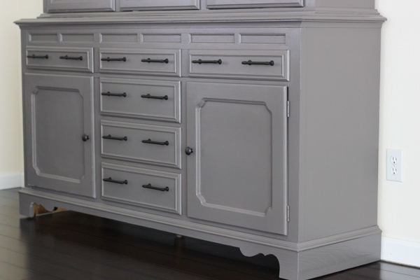 Painted China Cabinet-4